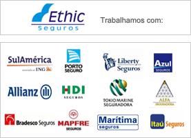 ATUAMOS COM AS CIAS SEGURADORAS DE QUALDIADE RECONHECIDA NO BRASIL E NO MUNDO.